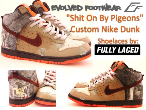 shit on by pigeons nike dunk custom 1