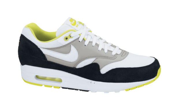 Nike Air Max 1 Essential White Black Neon Yellow Fully