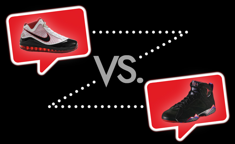 Nike Air Max LeBron VII vs Air Jordan