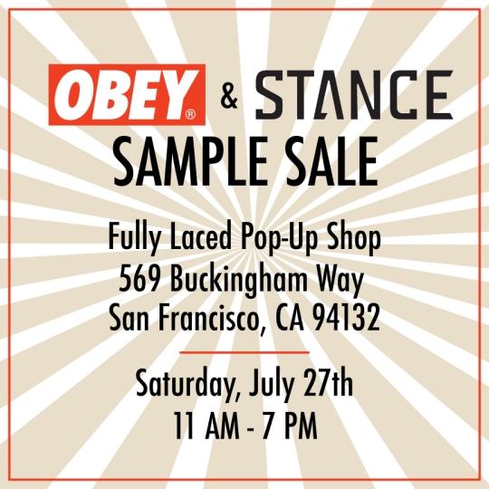 Obey&StanceSampleSaleFlier