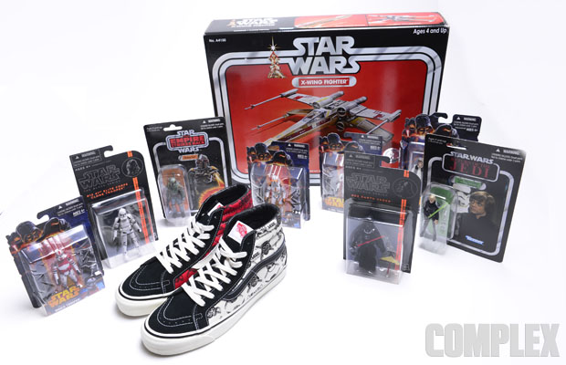 3b5902dfe5 The six-sneaker collection uses four signature Vans Vault LX styles that  feature a healthy dose of Star Wars imagery—the Sk8-Hi