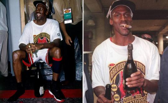 jordan-96-championship-champagne-cigars